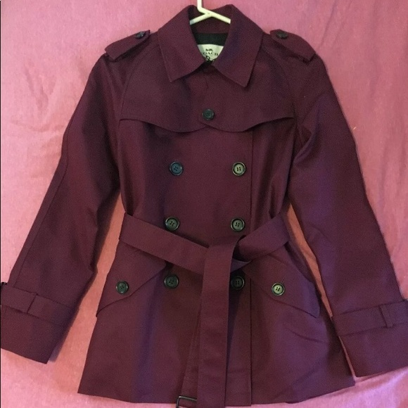 Coach Jackets & Blazers - Coach trench coat wine colored new!